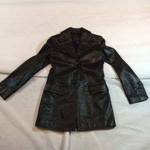 Banana Republic Black Real Leather Jacket
